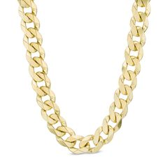 "Men's 10K Gold 10.3mm Curb Chain Necklace - 24"", $1,999.00"
