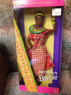 Barbie Doll   Dolls of the World Collection   Kenyan    African 1993     #Barbie