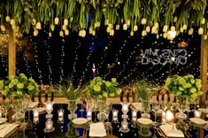Tulip centerpiece and fairy lights decoration for imperial table Light Decorations, Table Decorations, Italy Wedding, Fairy Lights, Tulips, Centerpieces, Candles, Home Decor, Decoration Home