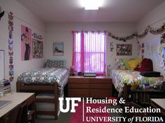 Hume Double Uf Dorm, Dorm Room, Dorm Pictures, Dorm Design, University Of Florida, Kid Spaces, Dorm Decorations, Bed, College
