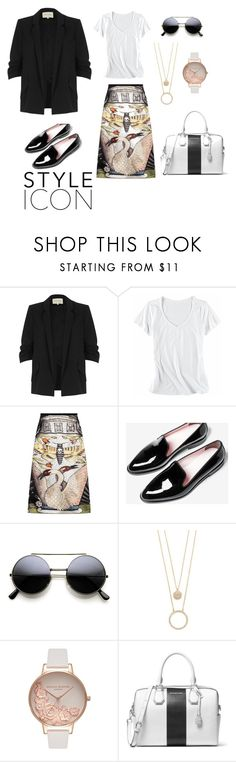 """""""Monochromatic art"""" by jfcbongcawil on Polyvore featuring River Island, Horny Toad, Gucci, Kate Spade, Olivia Burton and MICHAEL Michael Kors"""