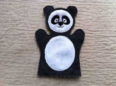 Panda  Animal Felt Hand Puppet by ThatsSewPersonal on Etsy, $10.00