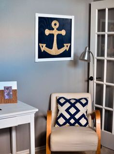 Nautical Wall Art | 33 Nautical DIYs That Will Transport You To The Beach