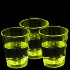 LED Liquid Activated Shot Glass - Yellow Glow in the Dark CoolGlow