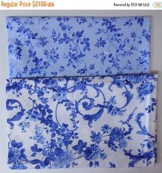 BLACK FRIDAY SALE Porcelain Blue #3~ Cotton Fabric Bundle,End of Bolt~ 1 Yds, 26 inches by Northcott~Fast Shipping Eob117