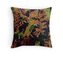 Flora Celeste Golden Sapphire  Throw Pillow