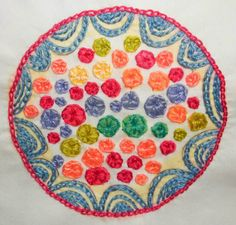 drop cloth: The First Color-Burst: Bubblegum!