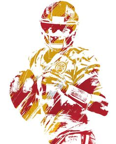Patrick Mahomes Kansas City Chiefs Watercolor Strokes Pixel Art 3 Art Print by Joe Hamilton. All prints are professionally printed, packaged, and shipped within 3 - 4 business days. 49ers Pictures, Funny Sports Pictures, Football Pictures, Nfl Football Helmets, Football Art, Football Players, Chiefs Wallpaper, Football Wallpaper, Joe Hamilton