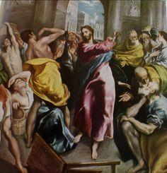 Nouveau Testament Le Christ chassant les vendeurs du Temple El Greco (Londres)