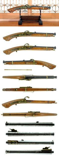 Japanese matchlock pistol (hinawajyu bajyou-tanzutu)
