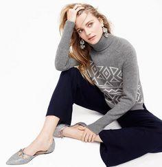 J.Crew Fair Isle classic turtleneck sweater Patterned