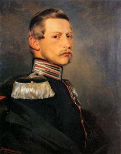 Crown Prince Friedrich Wilhelm of Prussia. 1857.  By Franz Xaver Winterhalter.