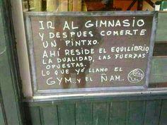 """Frases y cosas: El """"gym"""" y el """"ñam"""""""
