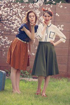 Bugle Joy Skirt in Olive | Mod Retro Vintage Skirts | ModCloth.com