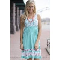 """This adorable sleeveless mini dress in coral with the perfect amount of lace is the ultimate addition to your wardrobe! Bust in Small 28"""" Medium 30"""" Large 32""""Waist in Small 24"""" Medium 26"""" Large 28""""Length in Small 37"""" Medium 38"""" Large 39""""96% Rayon4% SpandexHand Wash ColdMade in U.S.A.Model is size 4 in a small.Small 0/4, Medium 6/8, Large 10/12"""