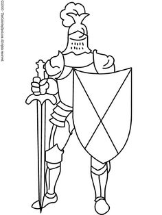 Knights were soldiers for the king who wore protective armor made of metal. They used large swords and shields to defend themselves against enemies and fought for the honor and glory of their king.  .  To Print: Depending on your preference and which browser you're using, you can right-click on