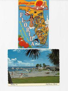 10 Florida Postcards 1970s Vintage Paper Ephemera by OldPaperShop, $6.00