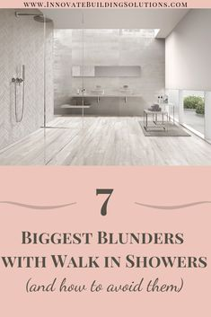 We have uncovered the 7 biggest blunders with walk in showers (and even tips on how to avoid them) Trust us.. you don't want to miss this!   Innovate Building Solutions   #BathroomRemodelingDIY #ShowerRemodelingIdeas #WalkInShower   Bathroom Shower Design   Bathroom Remodeling DIY   Shower Remodeling Ideas