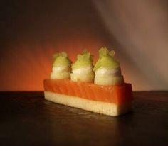 Salmon selery apple horseradish