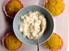 Hämmentäjä: Gluteenittomat tuliset pekoni-maissimuffinssit. Gluten-free spicy bacon-corn muffins.