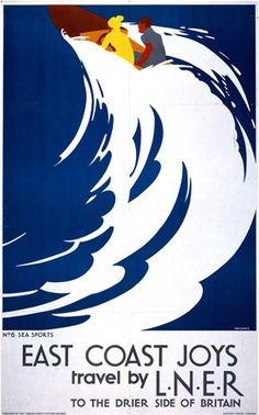 East Coast Joys - Sea Sports by National Railway Museum - art print from King & McGaw