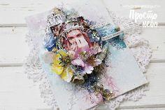 Домик рукодельницы: Вдохновение от ДК. Миксмедийный холст от Марины Копьевой.