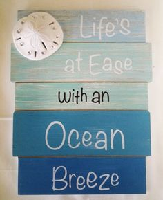 Beach Sign Lifes at ease with an Ocean breeze
