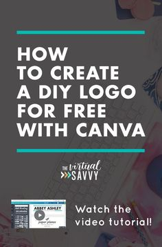 Create an awesome DIY logo for FREE using Canva! Watch this video tutorial on The Virtual Savvy - Tap the link now to Learn how I made it to 1 million in sales in 5 months with e-commerce! I'll give you the 3 advertising phases I did to make it for FREE! Inbound Marketing, Affiliate Marketing, Marketing Services, Digital Marketing Strategy, Content Marketing, Media Marketing, Marketing Strategies, Web Design, Logo Design