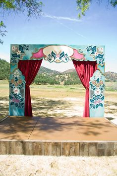 Ceremony backdrop stage by Because We Can