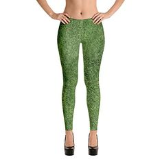 e568c95439ca2 CANTHESE Green Grass - Leggings Stretch Pants, Polyester Spandex, Yoga  Leggings, Fabric Design