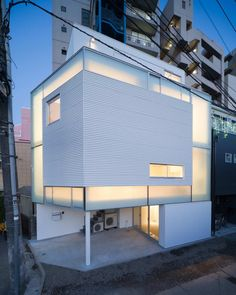 * Residential Architecture: House in Nakameguro by Yoritaka Hayashi Architects Architecture Du Japon, Houses Architecture, Residential Architecture, Amazing Architecture, Contemporary Architecture, Interior Architecture, Minimalist Architecture, Japanese House, Japanese Kitchen