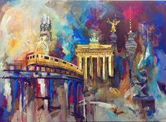 #Berlin 140x100 #Acryl, Melanie Geis