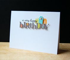 Very Happy Birthday Card by Cristina Kowalczyk for Papertrey Ink (March 2013)