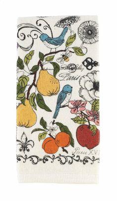 Amazon.com - Ritz Kitchen Wears Print Velour Kitchen Towel, Botanical Garden - Dish Towels