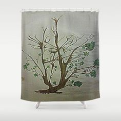Shower Curtain featuring STRUGGLING TO SURVIVE by Aztosaha