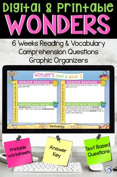 The perfect complement to the McGraw Hill Wonders 3rd grade series! This digital Learning Resources, Classroom Resources, Mcgraw Hill Wonders, Reading Wonders, End Of Year Activities, Text Evidence, End Of School Year, Reading Response, Comprehension Questions