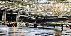 This is a Boeing B-17 - especially heart-tugging as she is the last B-17 to roll out of these doors. Boeing built 6981 B-17s in this factory during WW II, at a peak rate of 16 per day. I guess you could say they built 6981 and rolled out 6982 - including this last ship -- 65 years after her last sister. A poignant moment in time