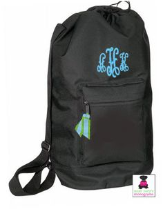 Monogrammed Large Drawstring Duffle / Laundry Bag - Miss Lucy's Monograms