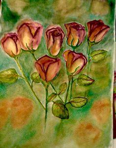 Watercolor roses!