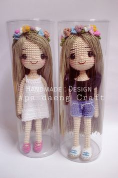 This Pin was discovered by Ste Crochet Dolls Free Patterns, Crochet Beanie Pattern, Doll Patterns, Crochet Fairy, Cute Crochet, Hello Kitty Crochet, Handmade Soft Toys, Knitted Dolls, Soft Dolls