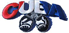 "Amazon.com: [Single Count] Custom and Unique (4.5"" 11 cm x 2.25"" 6 cm) ""Biker"" Cuba Boxing Gloves Fighting MMA Design Iron & Stick On Adhesive Embroidered Applique Patch {Red, White, Blue & Black}"
