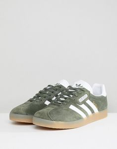 reputable site d861e 385cc adidas Originals Gazelle Super Sneakers In Green BY9778 - Green Cross  Training Shoes, Adidas Gazelle