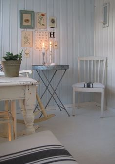 shabby chic with cool metal table