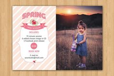 Spring Mini Session Template-V193 by Template Shop on @creativemarket Photography Flyer, Photography Marketing, Photography Business, Photography Tutorials, Photoshop Cs5, Photoshop Elements, Model Comp Card, Photo Folder, Text Tool