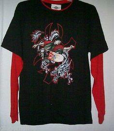 Mad Engine Shirt Size large Skateboard Graphics Black Red New #MadEngine