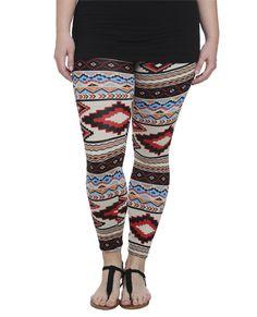 Multi Color Tribal Legging - Bottoms