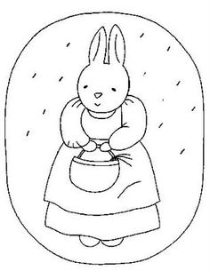 free adorable bunny embroidery pattern from Bustle and Sew
