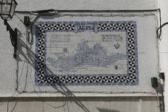 Sign to the old part of Lisbon, Map of Alfama, Azulejos, Portuguese Tiles, Lisboa, Lisbon, Portugal