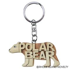 With wood engravings and a sleek wooden design, our 2.5-inch Polar Bear Word Keychain is a sure hit when it comes to party favors. Ideal for animal-themed celebrations and prizes.  #POLARBEAR #Engraved #Word #Wood #Learn #Read #Animals #Keychains #Students #Prizes #BacktoSchool #Teachers #SchoolYear #Teaching #Classroom