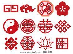 Chinese Asian icons set